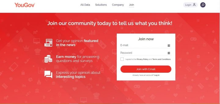 how to sign up for YouGov